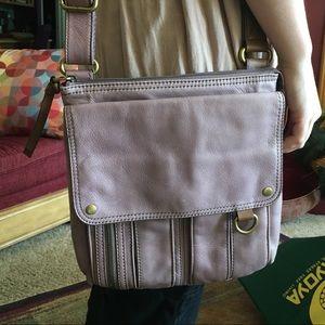 Unusual mauve/lavender colored Fossil Brand  bag